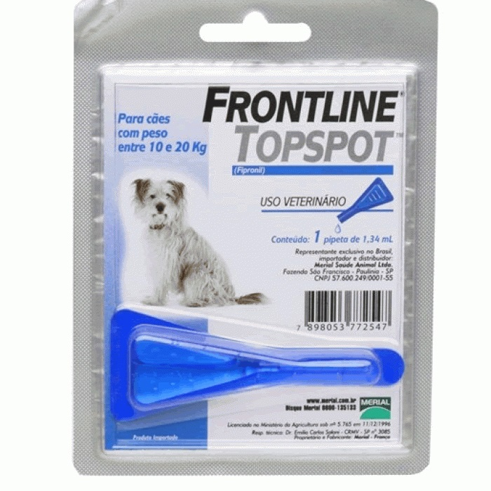 Frontline Top Spot 10 a 20Kg. M  - Farmácia do Cavalo