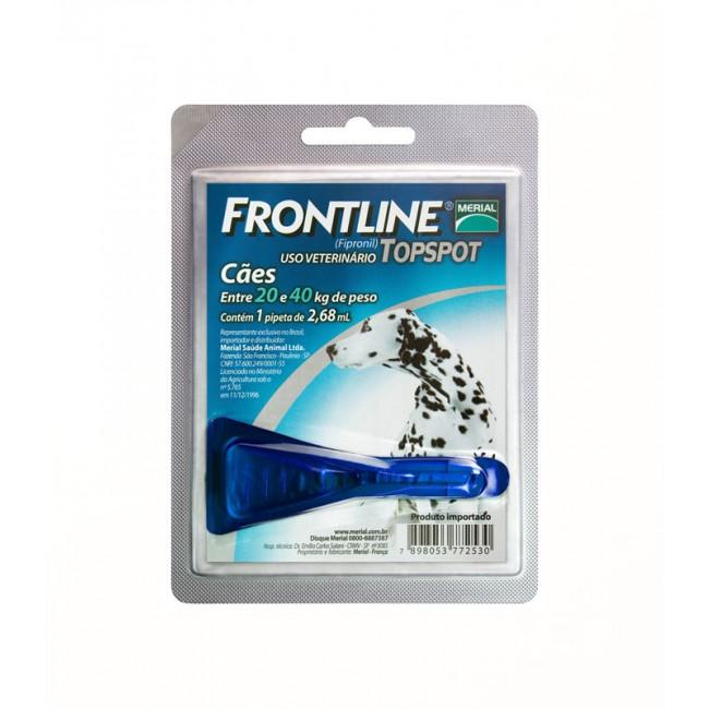Frontline Top Spot 20 a 40Kg. G  - Farmácia do Cavalo