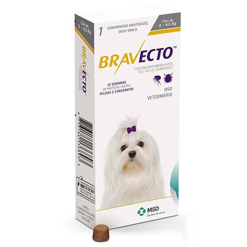 BRAVECTO 112,50 mg - CÃES 02 A 4,5   - Farmácia do Cavalo