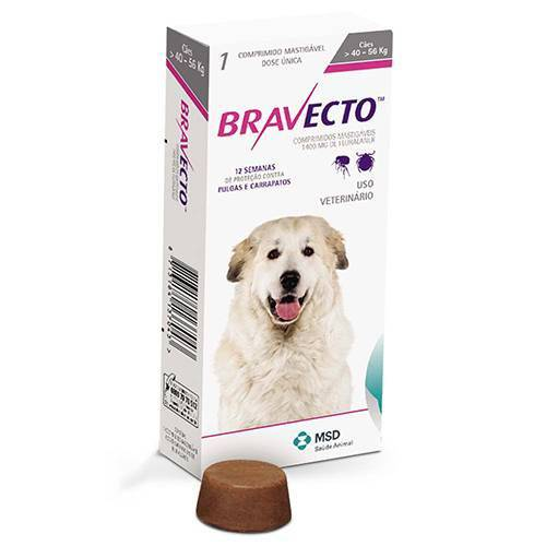BRAVECTO 1400 mg - CÃES 40 A 56 kg  - Farmácia do Cavalo