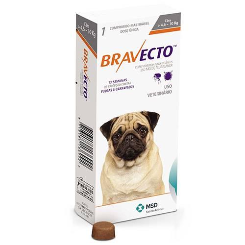 BRAVECTO 250 mg - CÃES 4,5 A 10 kg  - Farmácia do Cavalo
