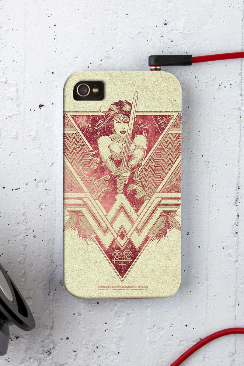 Capa para iPhone 4/4S Wonder Woman Warrior