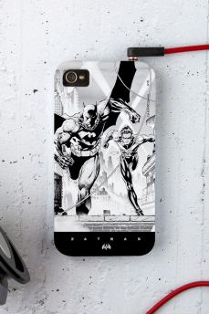 Capa para iPhone 4/4S Tracing Batman e Robin