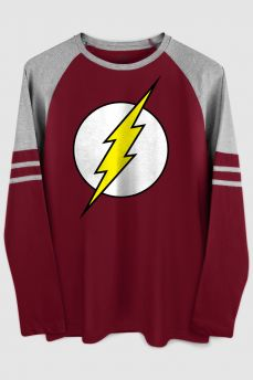 Blusa Manga Longa Masculina The Flash Logo