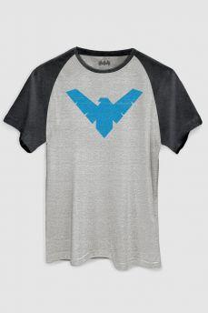Camiseta Raglan Premium Masculina Batman Nightwing Symbol