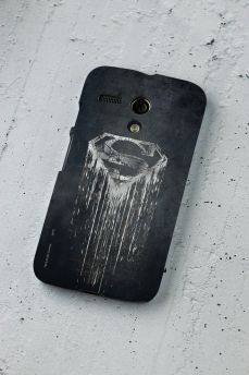 Capa para Motorola Moto G 1 Superman Steel Melting