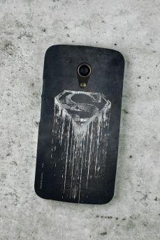 Capa para Motorola Moto G 2 Superman Steel Melting