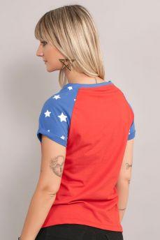 Camiseta Raglan Feminina Wonder Woman Costume