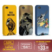 Kit Com 3 Capas de iPhone 4/4S Batman - Graphics