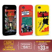 Kit Com 3 Capas de iPhone 4/4S Batman - Originals