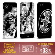 Kit Com 3 Capas de iPhone 5/5S Batman - Tracing