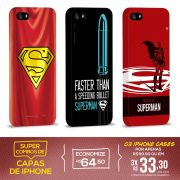 Kit Com 3 Capas de iPhone 5/5S Superman - The Man Of Steel