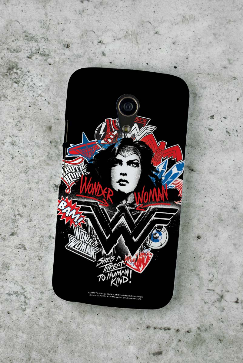 Capa para Motorola Moto G 2 Wonder Woman She´s a Threat