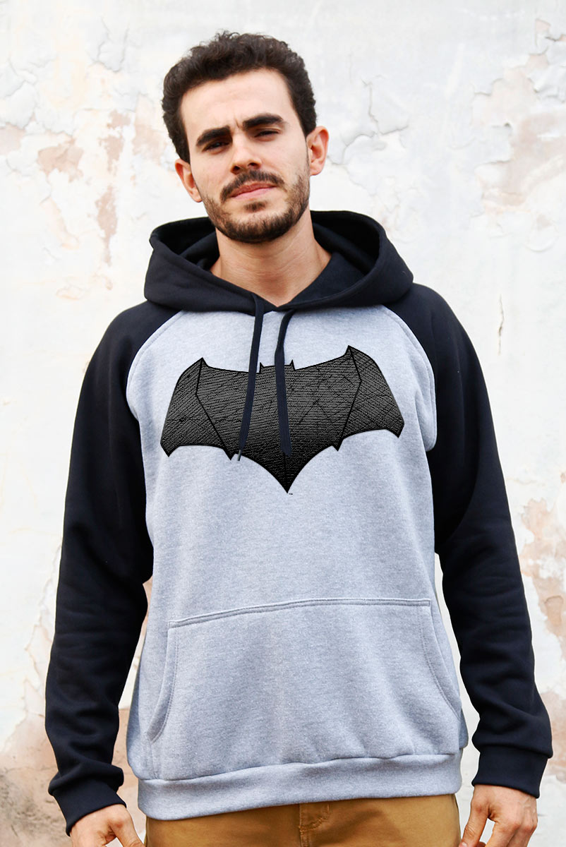 Moletom Raglan Batman VS Superman Logo Batman