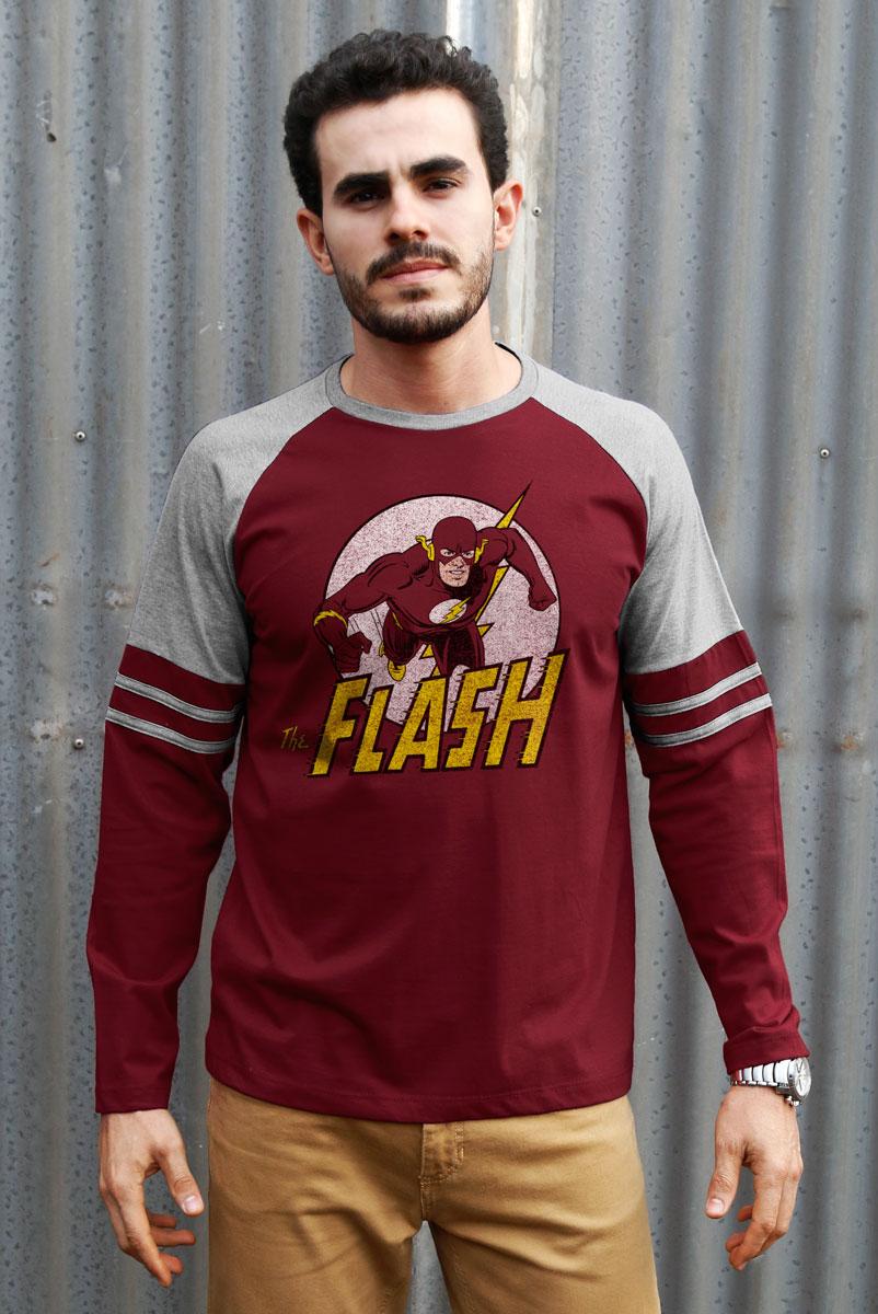 Blusa Manga Longa Masculina The Flash Run
