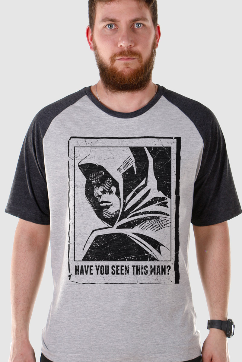 Camiseta Raglan Premium Masculina Arrow Have You Seen This Man?