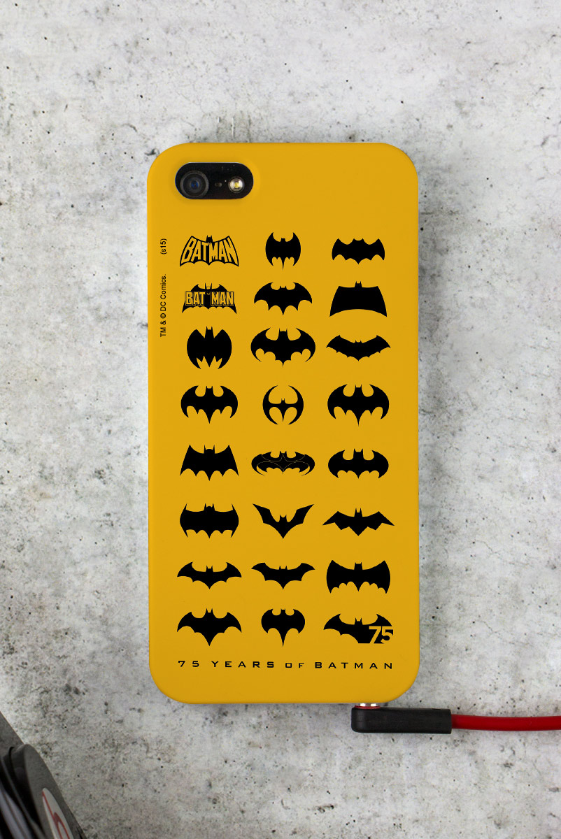 Capa para iPhone 5/5S Batman 75 Anos Logos Collection