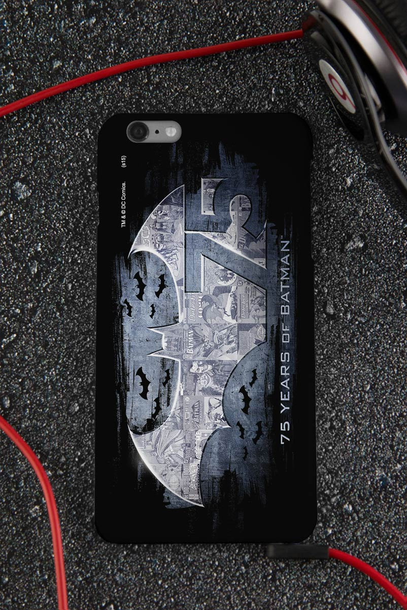 Capa para iPhone 6/6S Plus Batman 75 Anos Logo 2