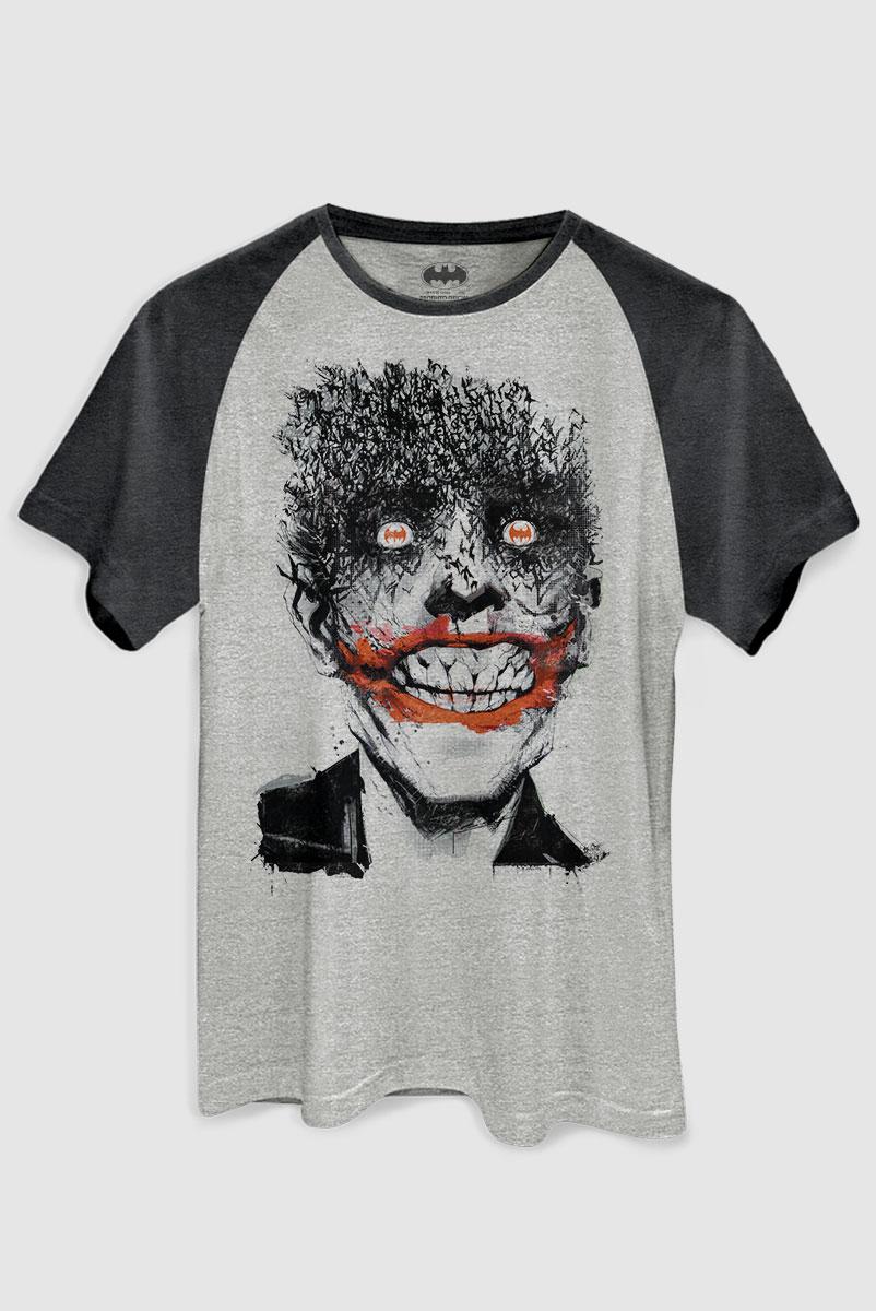 Camiseta Raglan Premium Masculina The Joker Happy Bats