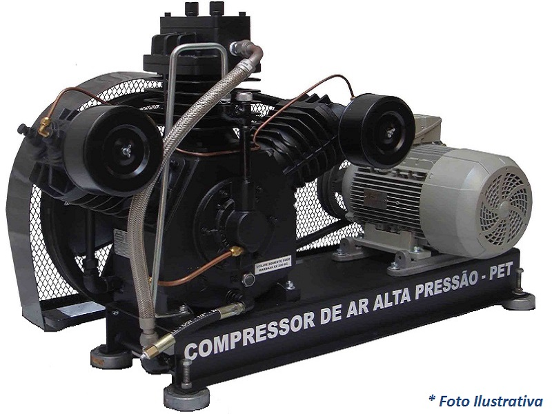 Compressor PET SAPR-30E/AD - 22BAR  - Sócompressores