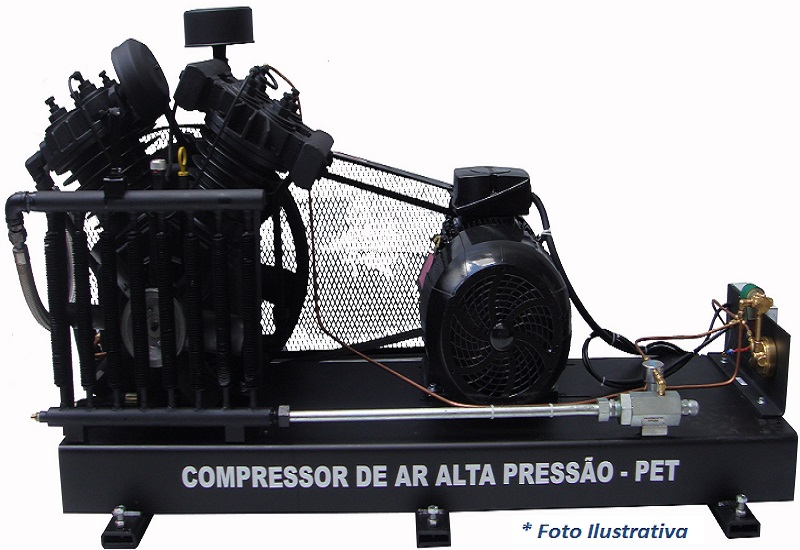 Compressor PET SAPV-40E/AD - 22BAR  - Sócompressores