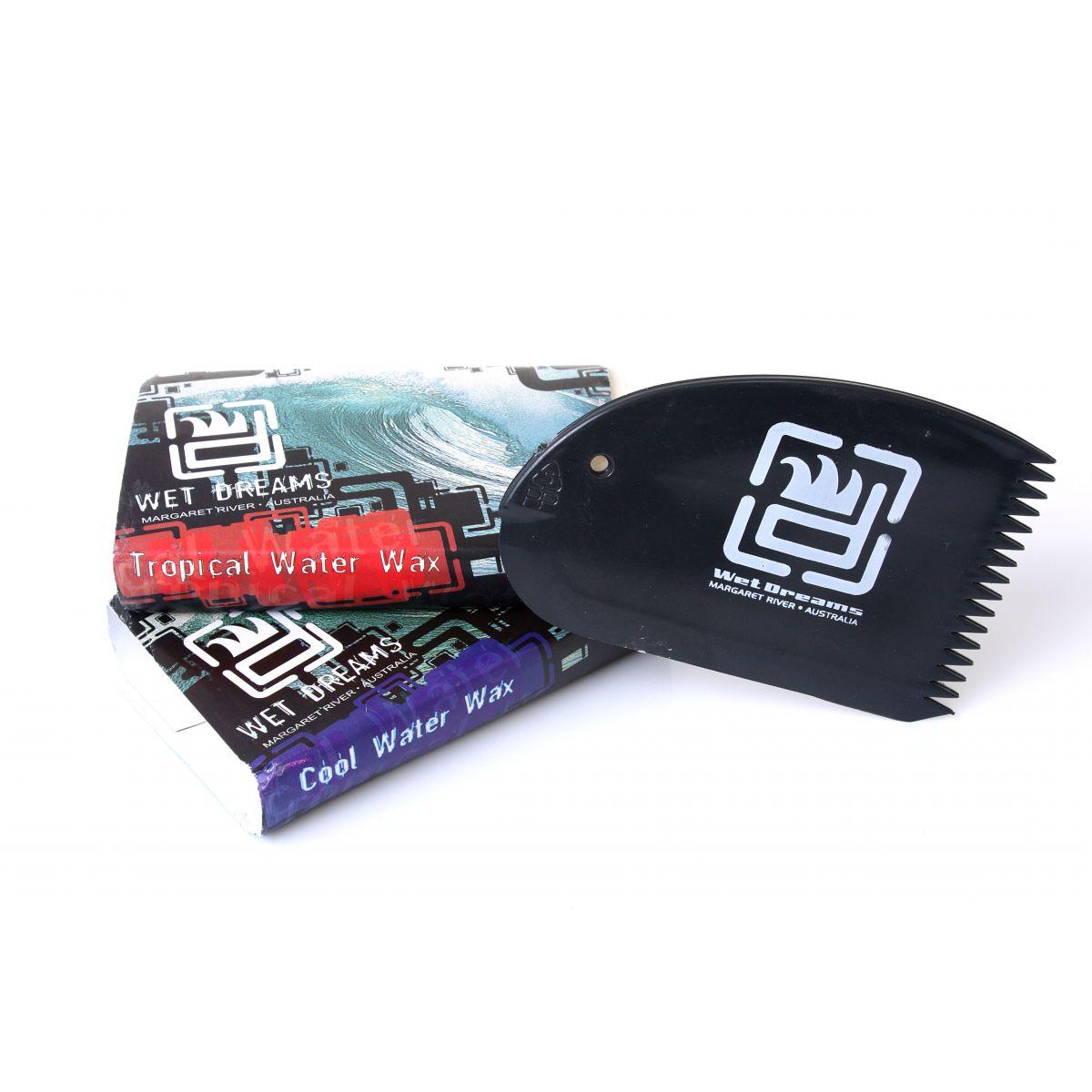 Kit com 5 Parafinas Cool Water Wax + 1 raspador  - Wet Dreams Store