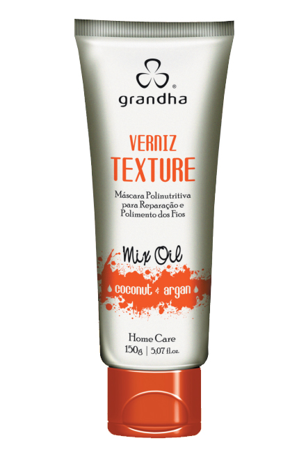 VERNIZ TEXTURE MIX OIL COCONUT & ARGAN 150G  - Beleza Outlet
