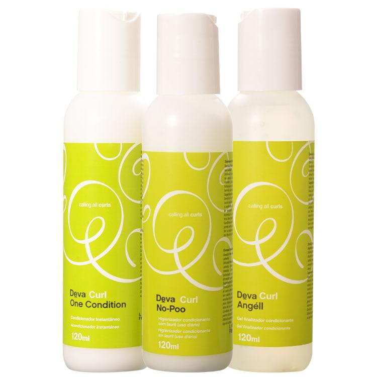 Kit Tamanho Viagem Deva Curl 3-passos (3 produtos)  - Beleza Outlet