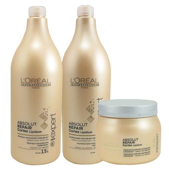 Kit Absolut Repair Lipidium -L'Oréal  - Beleza Outlet
