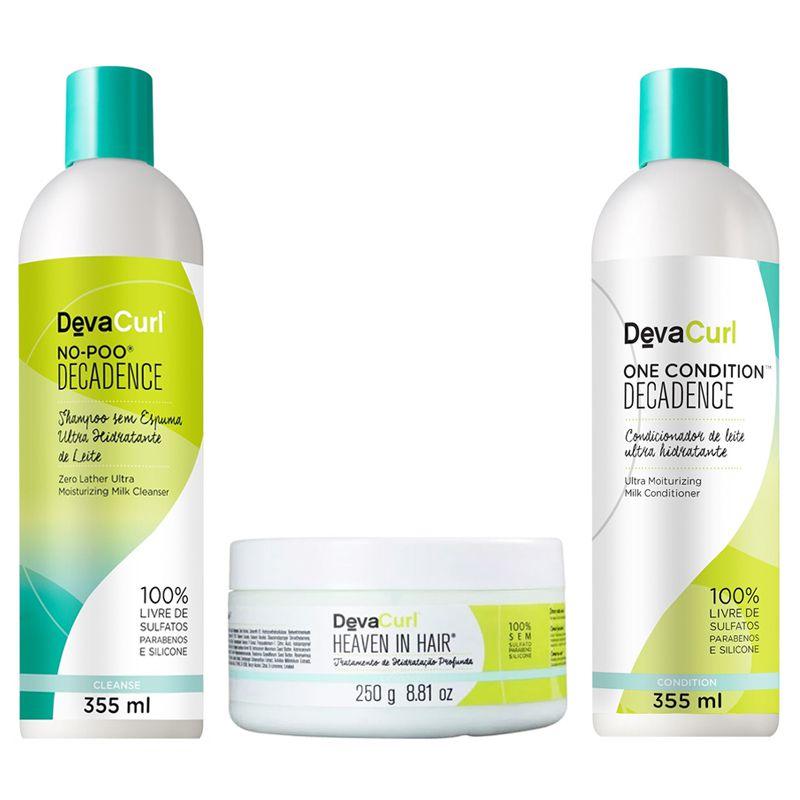 Kit Deva Curl Decadence 3 Produtos Heaven in Hair 250g  - Beleza Outlet