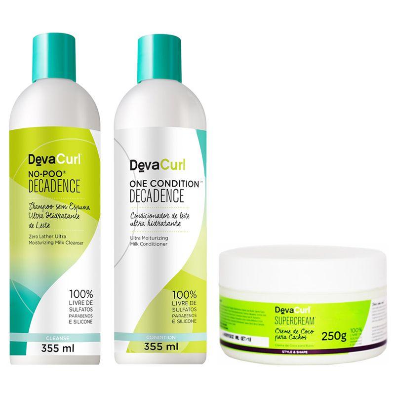 Kit Deva Curl Decadence 3 Produtos Super Cream 250g  - Beleza Outlet