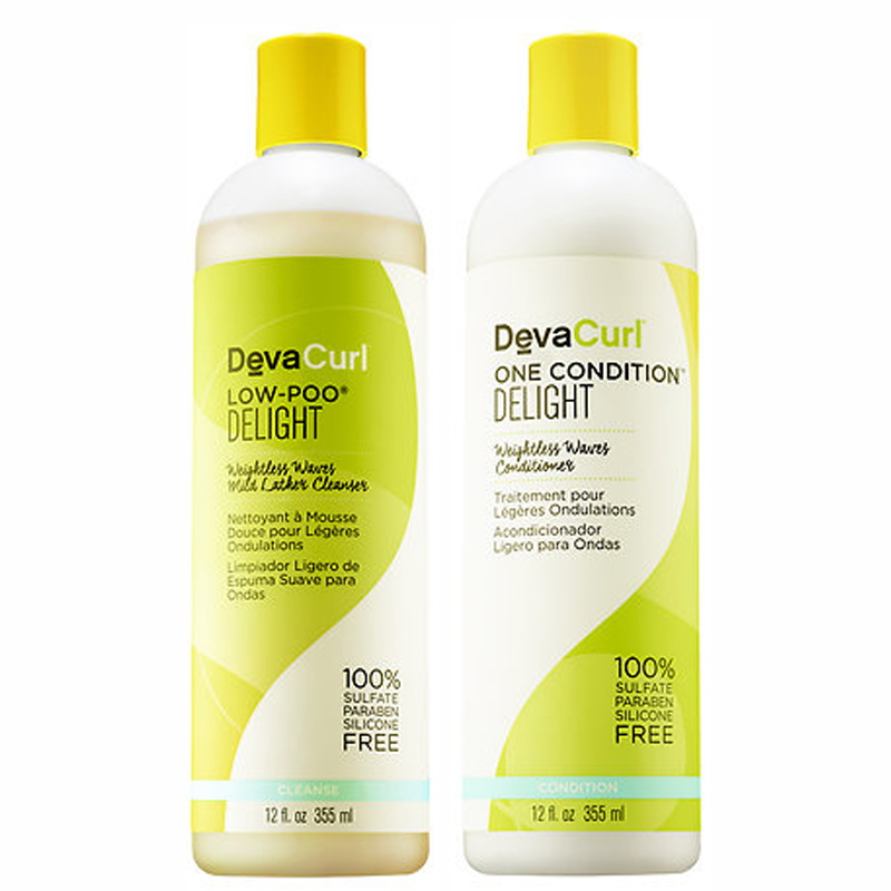 KIT DEVA CURL DELIGHT  LOW-POO + ONE CONDITION 355ML  - Beleza Outlet