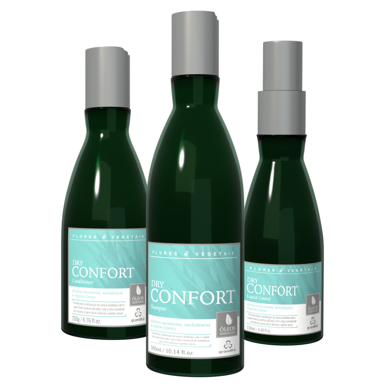 KIT DRY CONFORT FLORES & VEGETAIS  - Beleza Outlet