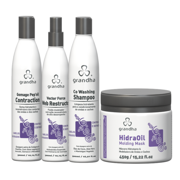 Kit Grandha Curl Wave Profissional    - Beleza Outlet
