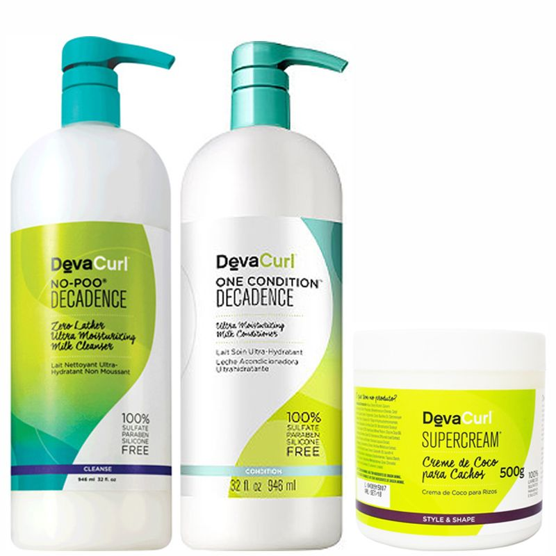Kit Litro Deva Curl Decadence + Mascara SUPERCREAM 500g   - Beleza Outlet