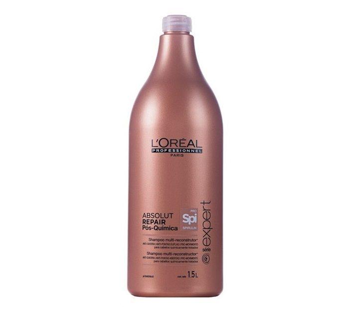 Shampoo Absolut Repair Pós Química 1,5L -L'Oréal  - Beleza Outlet