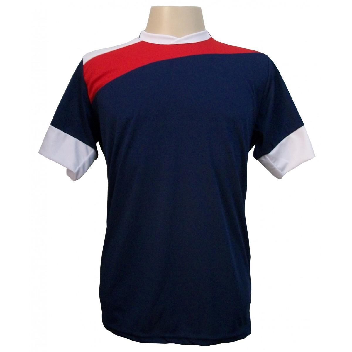 Jogo de Camisa Sporting Marinho/Vermelho/Branco 14 pe�as - Frete Gr�tis + Brindes
