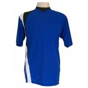 Fardamento - Jogo de Camisa com 14 pe�as modelo PSG - Royal/Preto/Branco - Frete Gr�tis Brasil + Brindes