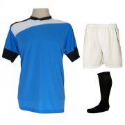 d193ac9cc6 Uniforme Esportivo Completo modelo Sporting 14+1 (14 camisas Celeste Branco  Preto