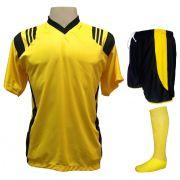 5237275381e2f Fardamento Completo modelo Roma 18+1 (18 Camisas Amarelo Preto + 18 Calções