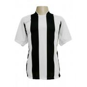 Jogo de Camisa modelo Milan com 12 Branco/Preto - PlayFair - Frete Gr�tis Brasil + Brindes
