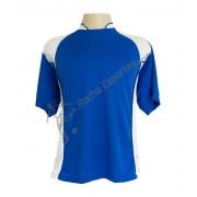 Fardamento - Jogo de Camisa modelo Su�cia com 14 Azul Royal/Branco - PlayFair - Frete Gr�tis Brasil + Brindes