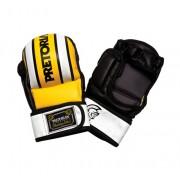 Luva de Treino para MMA Preto/Amarelo/Branco Tamanho G - Pretorian