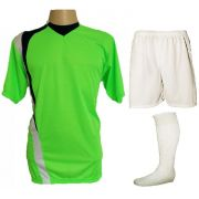 abd3540f7b476 Uniforme Esportivo Completo modelo PSG 14+1 (14 camisas Limão Preto Branco