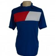 Uniforme Esportivo Completo modelo Tottenham Royal/Vermelho/Branco em Dry 14+1 (14 camisas + 14 cal��es + 15 pares de mei�es + 1 conjunto de goleiro) - Frete Gr�tis Brasil + Brindes