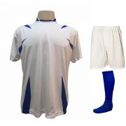 33bf1efa70 Uniforme Esportivo Completo modelo Palermo 14+1 (14 camisas Branco Royal +  14