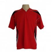 Jogo de Camisa M�naco com 18 pe�as Vermelho/Preto/Branco - Frete Gr�tis Brasil + Brindes