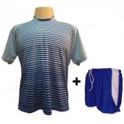fb2fbe09e6 Uniforme Esportivo com 18 camisas modelo City Celeste Royal + 18 calções  modelo Copa +