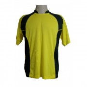 Uniforme Esportivo - Jogo de Camisa modelo Su�cia com 14 pe�as Amarelo/Preto + 1 Camisa de Goleiro - PlayFair - Frete Gr�tis Brasil + Brindes