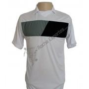 Uniforme Esportivo - Jogo de Camisa em tecido Dry modelo Tottenham com 14 pe�as numeradas Branco/Preto/Cinza + 1 Camisa de Goleiro - Frete Gr�tis Brasil + Brindes
